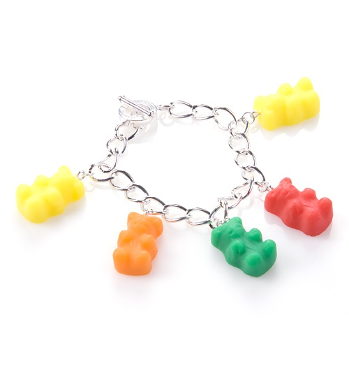 Gummy Bear Charm Bracelet from Bits and Bows