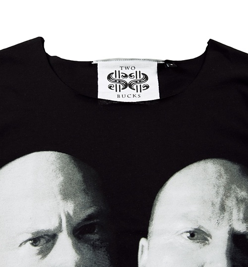 Women's Black Mitchell Brothers Eastenders Oversized T-Shirt from Two Bucks