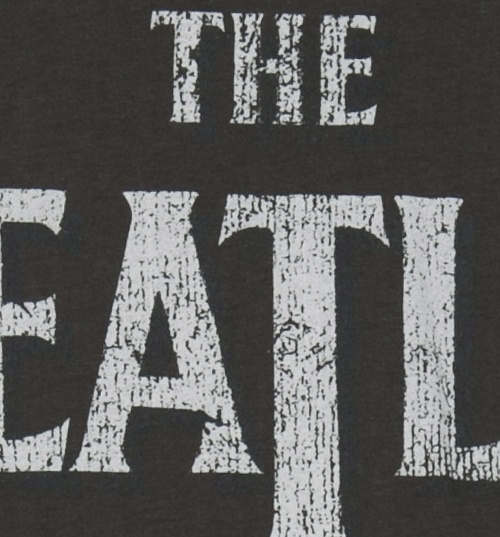 Women's Charcoal Classic Beatles Logo T-Shirt from Amplified