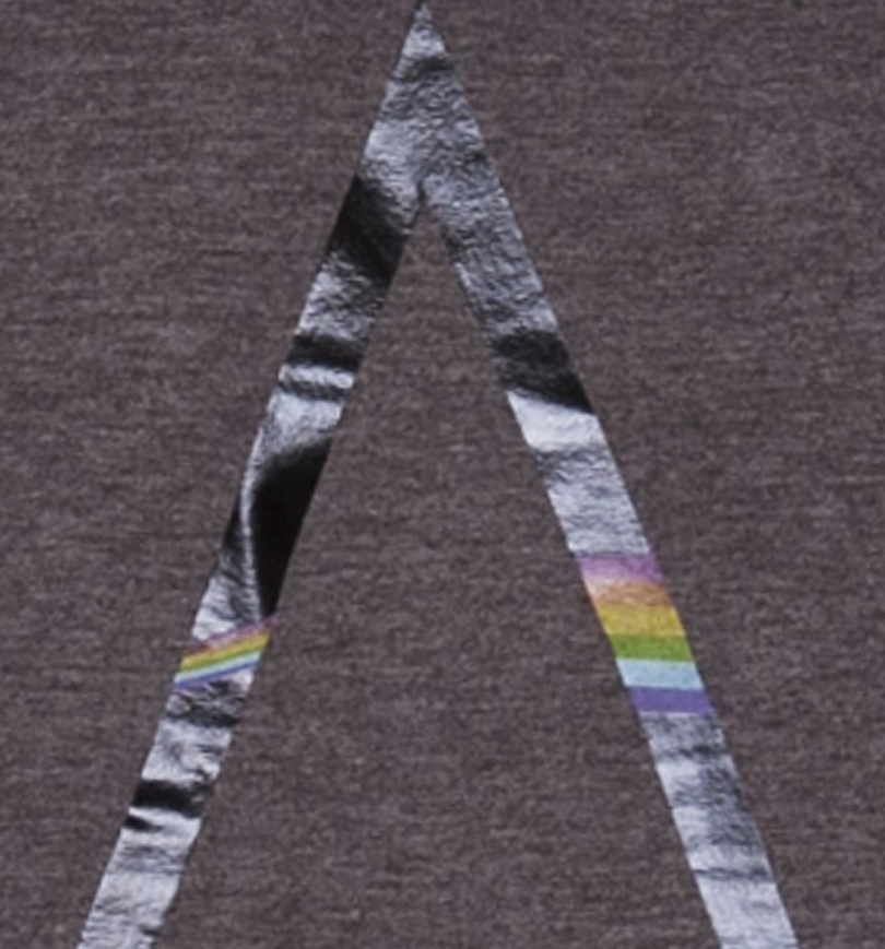 Women's Charcoal Wash Pink Floyd Foil Print Scoop Neck Slouchy T-Shirt from Junk Food