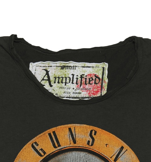 Women's Classic Guns N Roses Drum T-Shirt from Amplified