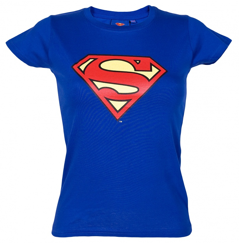 Women's Classic Superman Logo T-Shirt from Urban Species