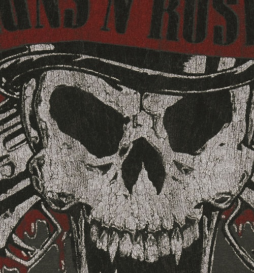 Women's Guns N Roses Deaths Head T-Shirt from Amplified Vintage