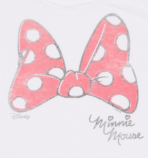 Women's Minnie Mouse Bow Cropped T-Shirt from Junk Food