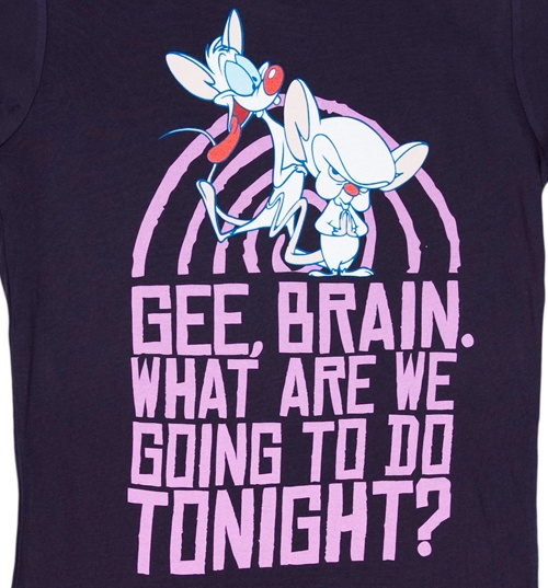 Women's Take Over Pinky And The Brain T-Shirt