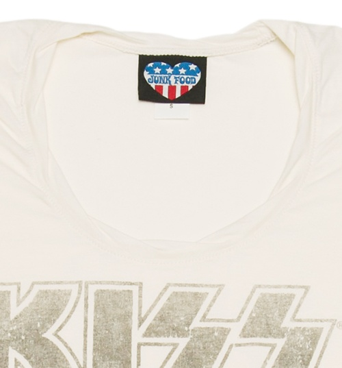 Women's White Kiss My Ass Cropped Slouch T-Shirt from Junk Food
