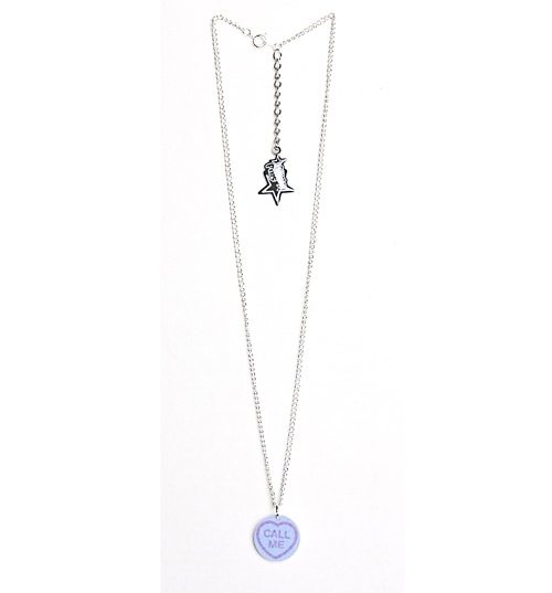 Love Hearts Call Me Necklace from Punky Pins