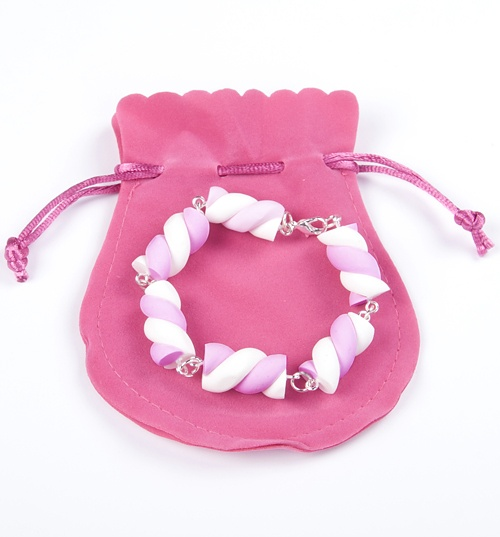 Pink And White Flump Bracelet from Bits and Bows