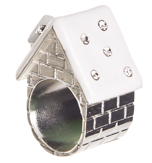 Silver Snowed In Fairytale House Ring from Me & Zena