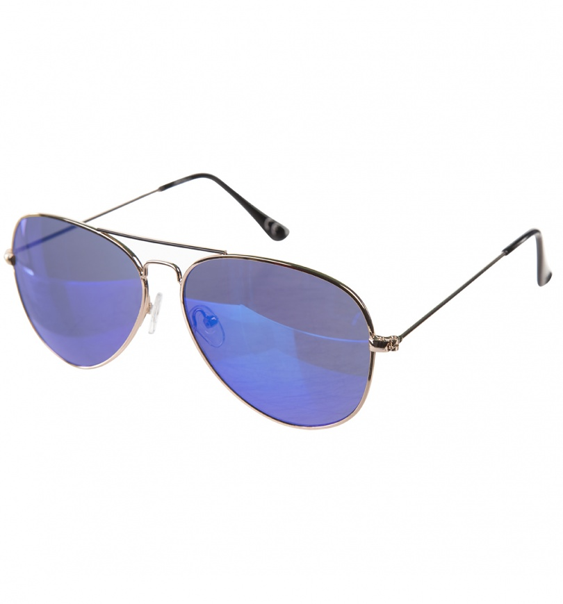 Aviator Sunglasses Gold Frame Mirror Lens : Gold Frame Mirror Lens Aviator Sunglasses from Jeepers Peepers