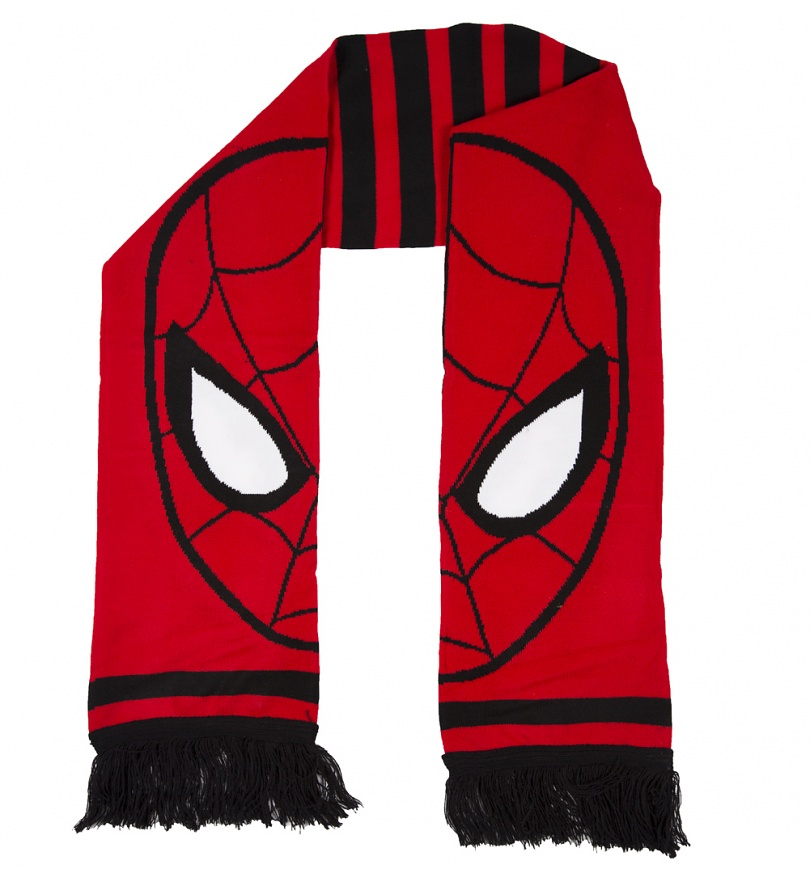 Knitting Pattern Spiderman Toy : Knitted Red Marvel Comics Spider-Man Scarf
