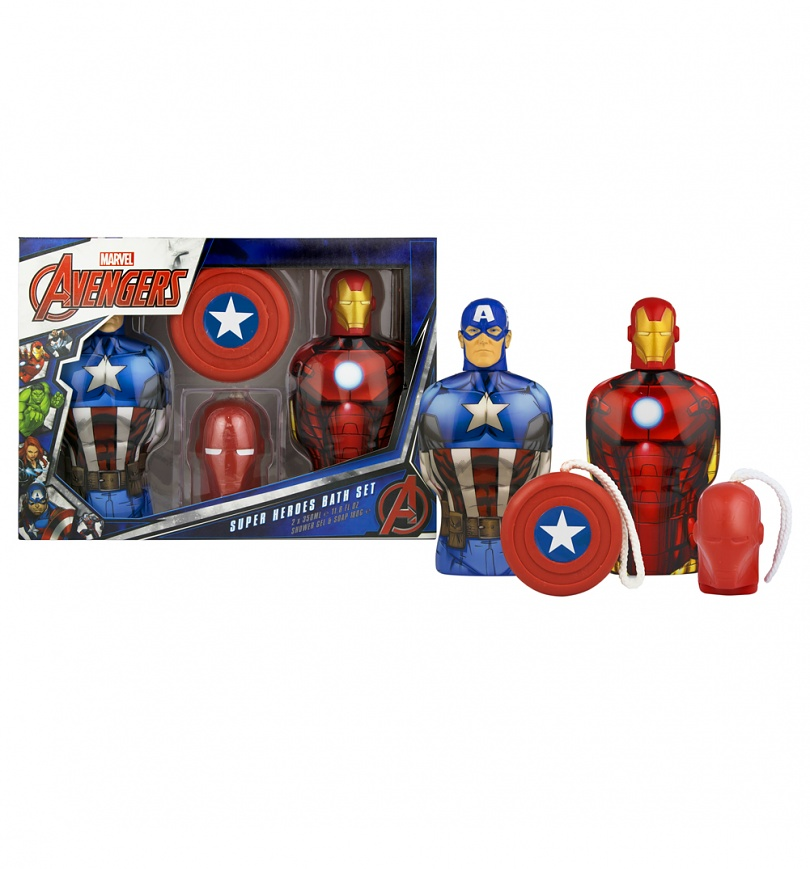 Marvel Baby Gifts Uk : Marvel avengers shower gel and soap on a rope gift set