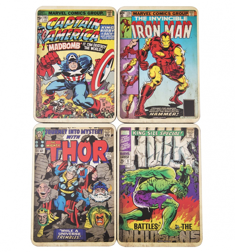 Marvel Baby Gifts Uk : Marvel comics vintage covers set of coasters