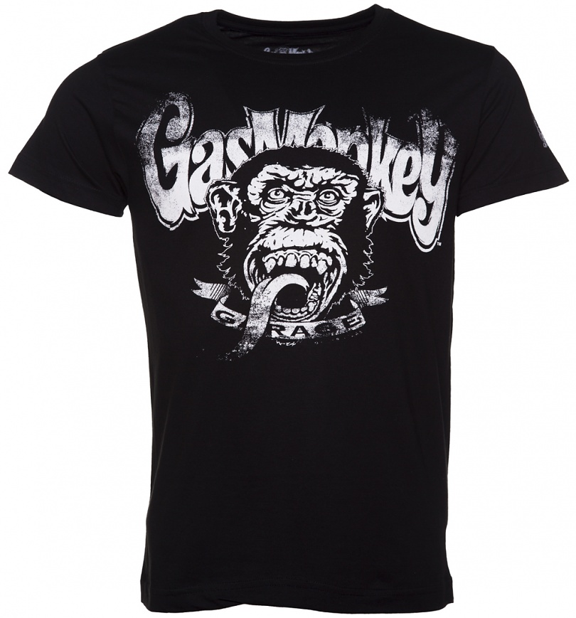 Men 39 s black fast n 39 loud gas monkey garage blood sweat for T shirts that don t show sweat