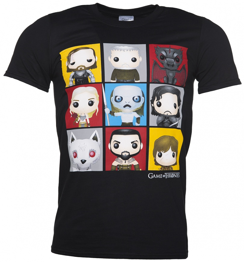 Men 39 S Black Game Of Thrones Funko Characters T Shirt