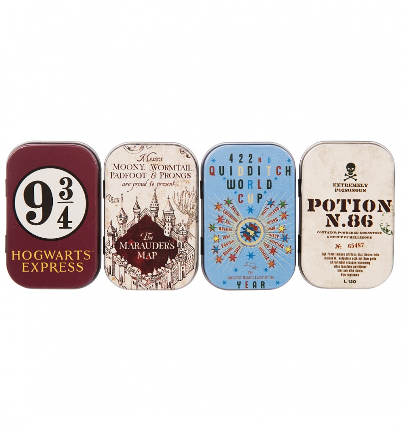 Harry Potter Baby Gifts Uk : Set of four harry potter mini tins