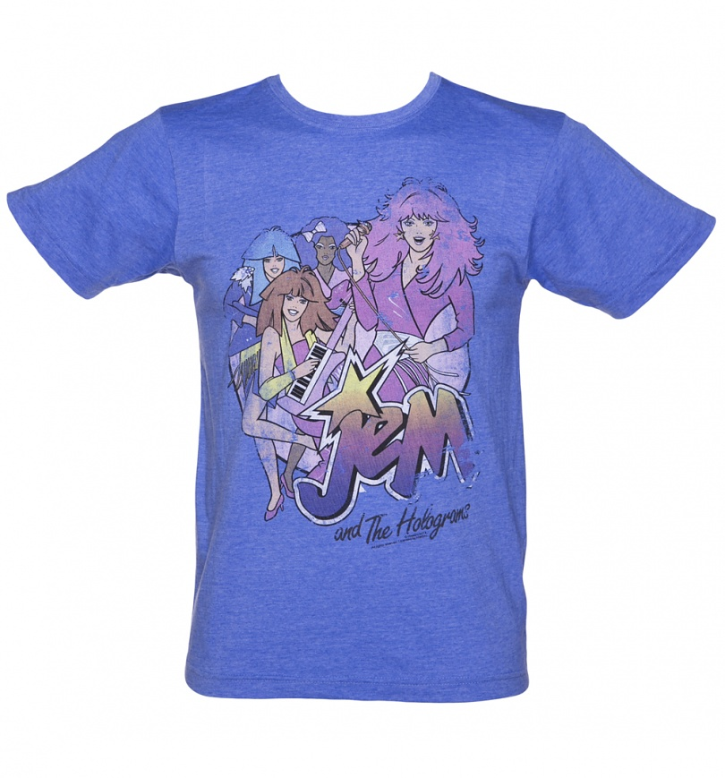 Men 39 s jem and the holograms band t shirt for Band t shirts for men