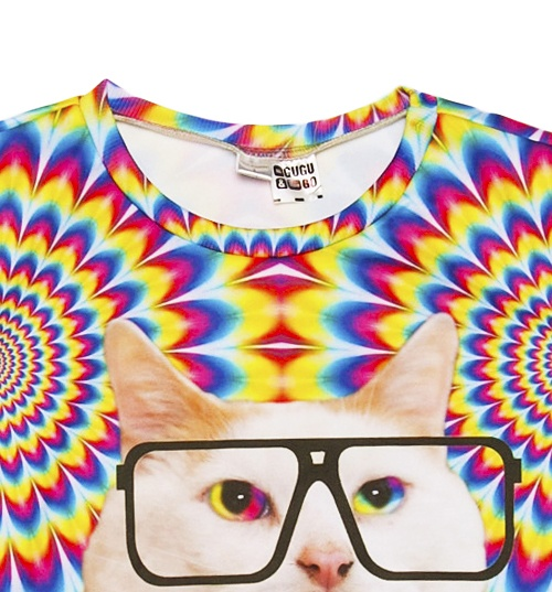 Unisex Psychedelic Uncle Cat Jumper from Mr Gugu & Miss Go
