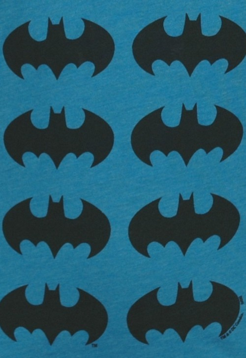 Blue Batman Repeat Print Women's T-Shirt from Junk Food