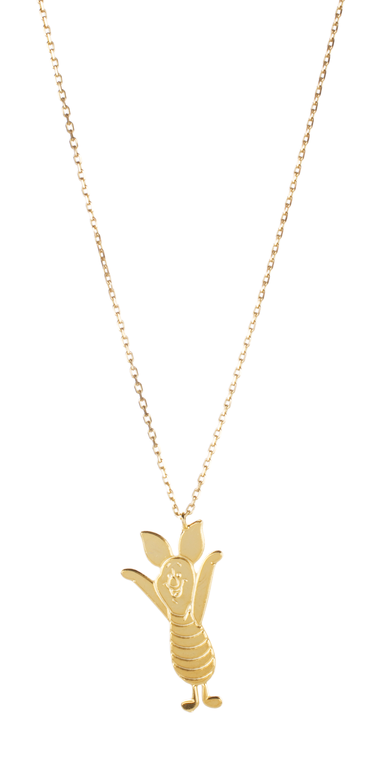 gold plated piglet disney winnie the pooh necklace from