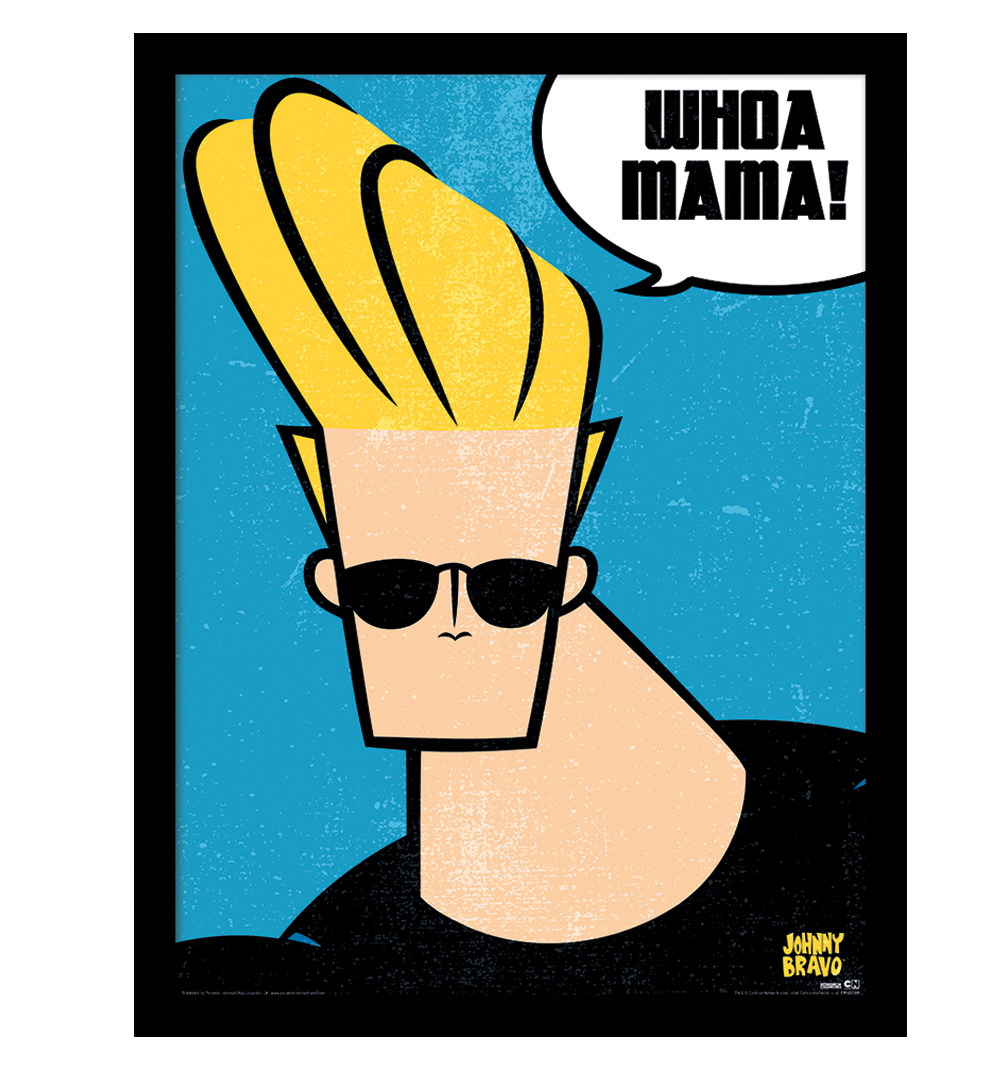 Johnny Bravo Whoa Mama Framed Print
