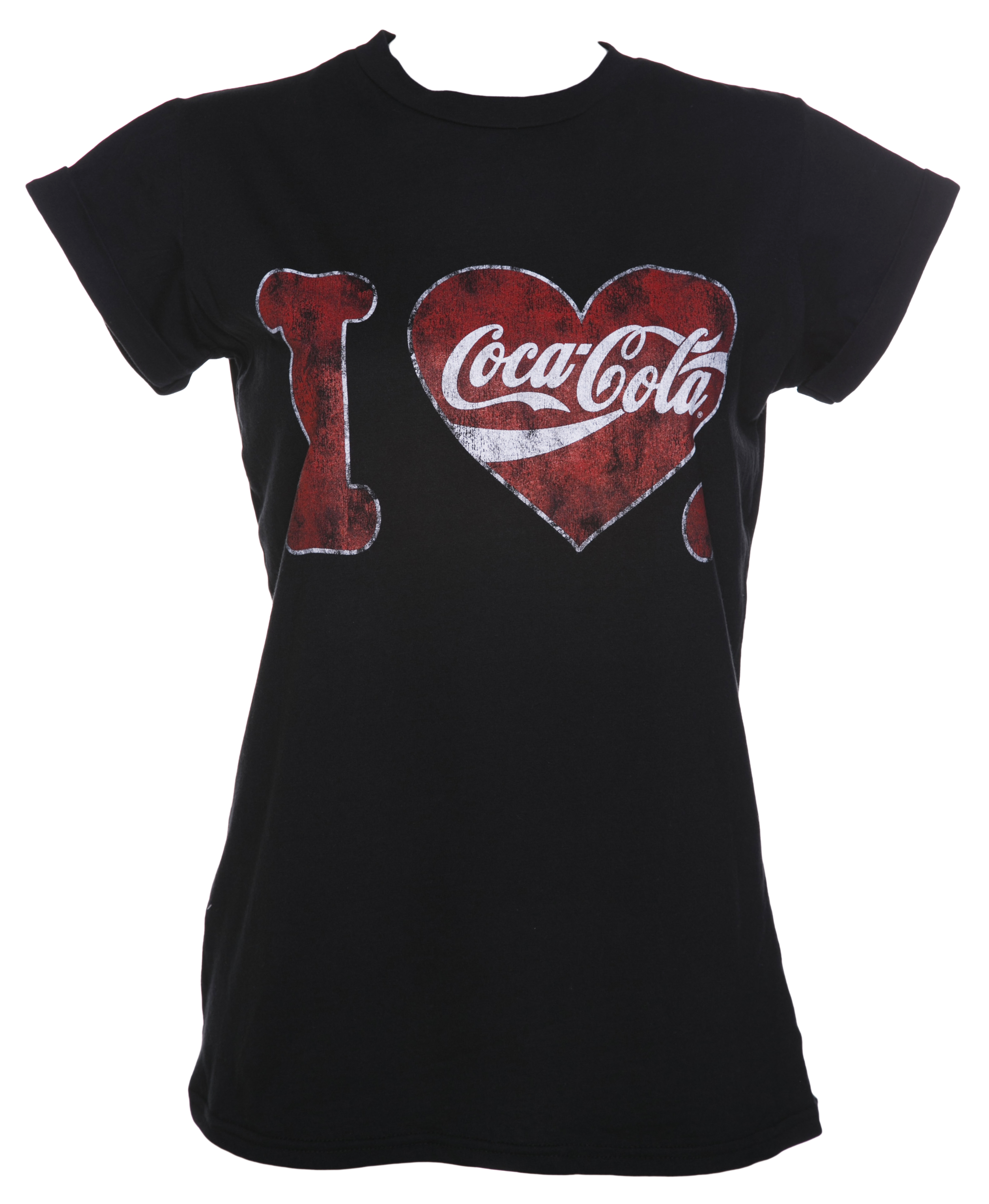 women 39 s i heart coca cola boyfriend t shirt. Black Bedroom Furniture Sets. Home Design Ideas