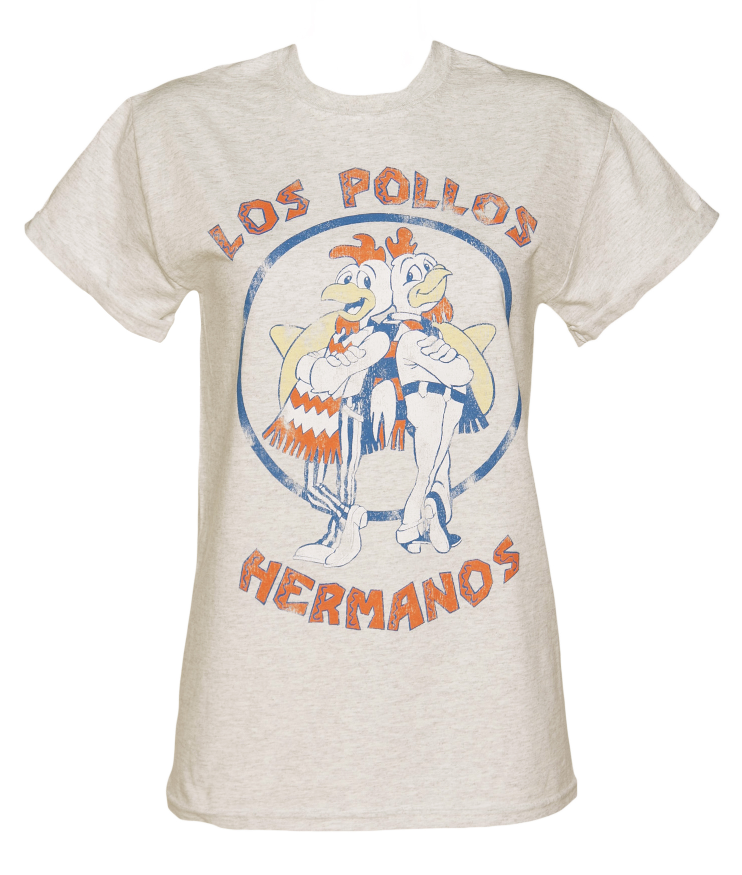 Ladies Los Pollos Hermanos Inspired By Breaking Bad Rolled Sleeve Boyfriend T-Shirt