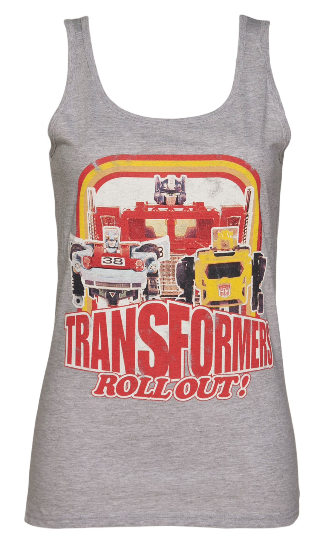 Ladies Retro Transformers Toy Roll Out Vest