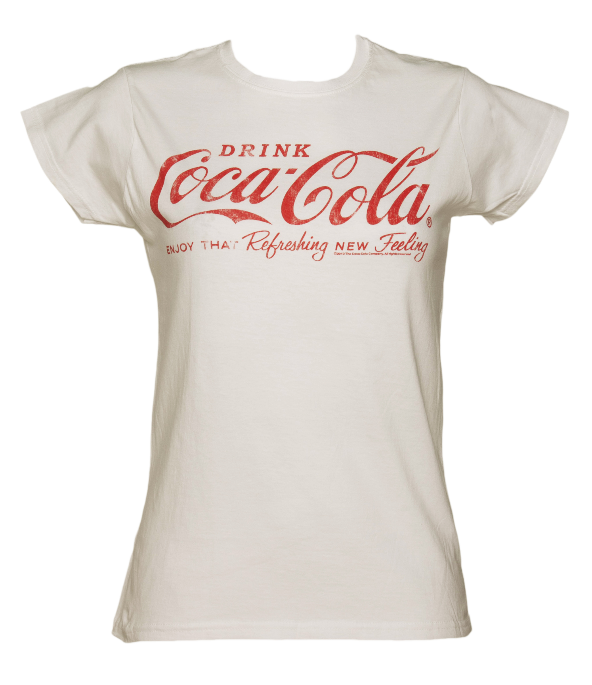 women 39 s white drink coca cola logo t shirt. Black Bedroom Furniture Sets. Home Design Ideas