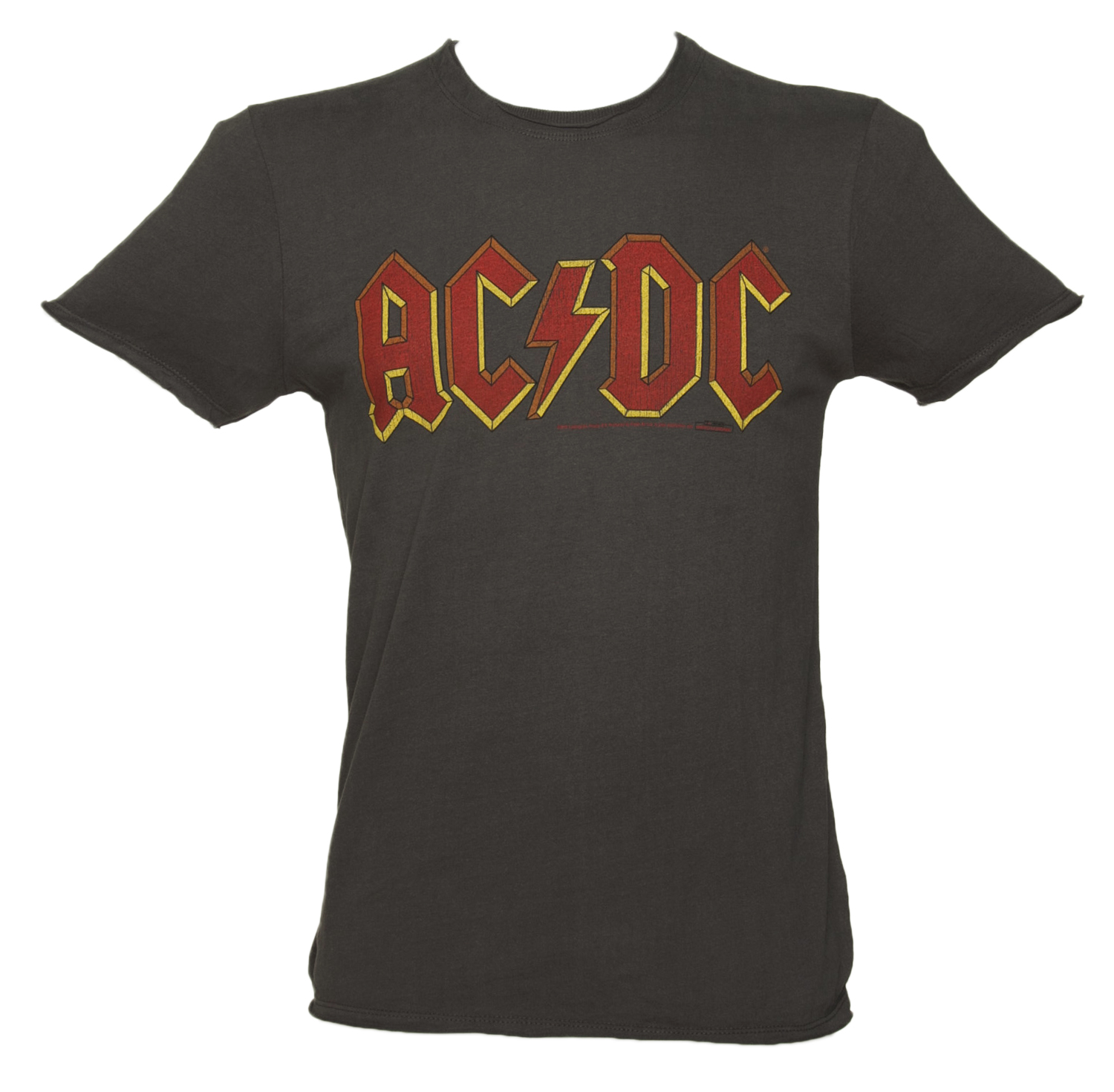 men 39 s charcoal ac dc logo t shirt from amplified. Black Bedroom Furniture Sets. Home Design Ideas