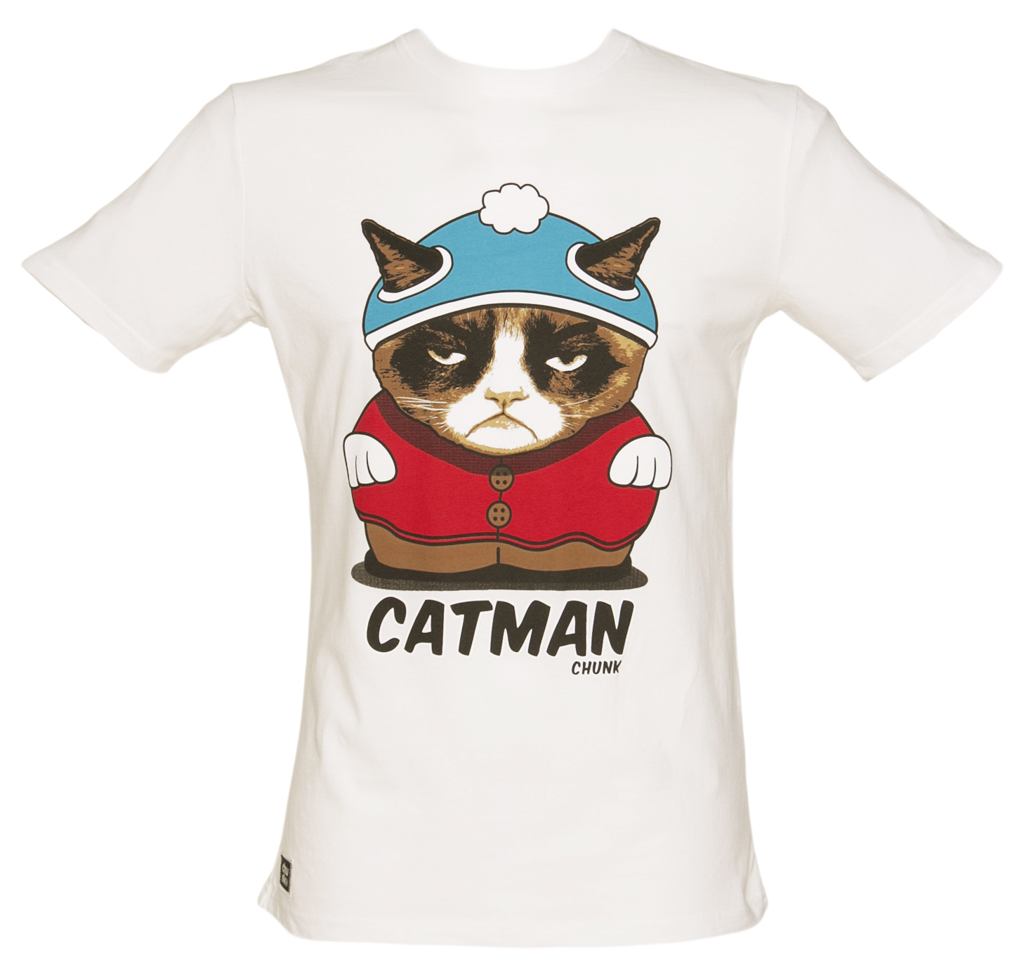 Mens White Catman TShirt from Chunk