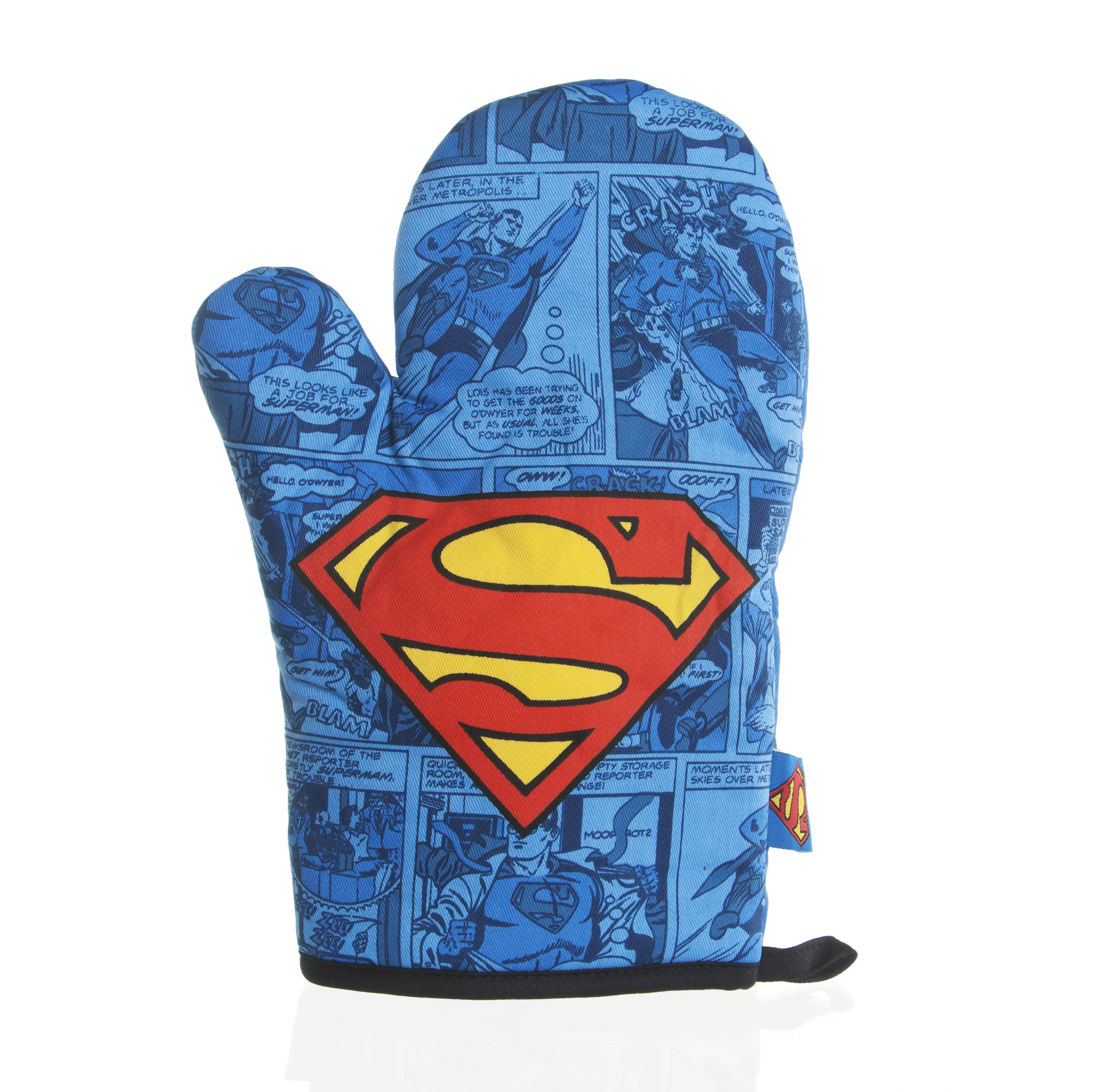 Superman Logo Padded Oven Mitt