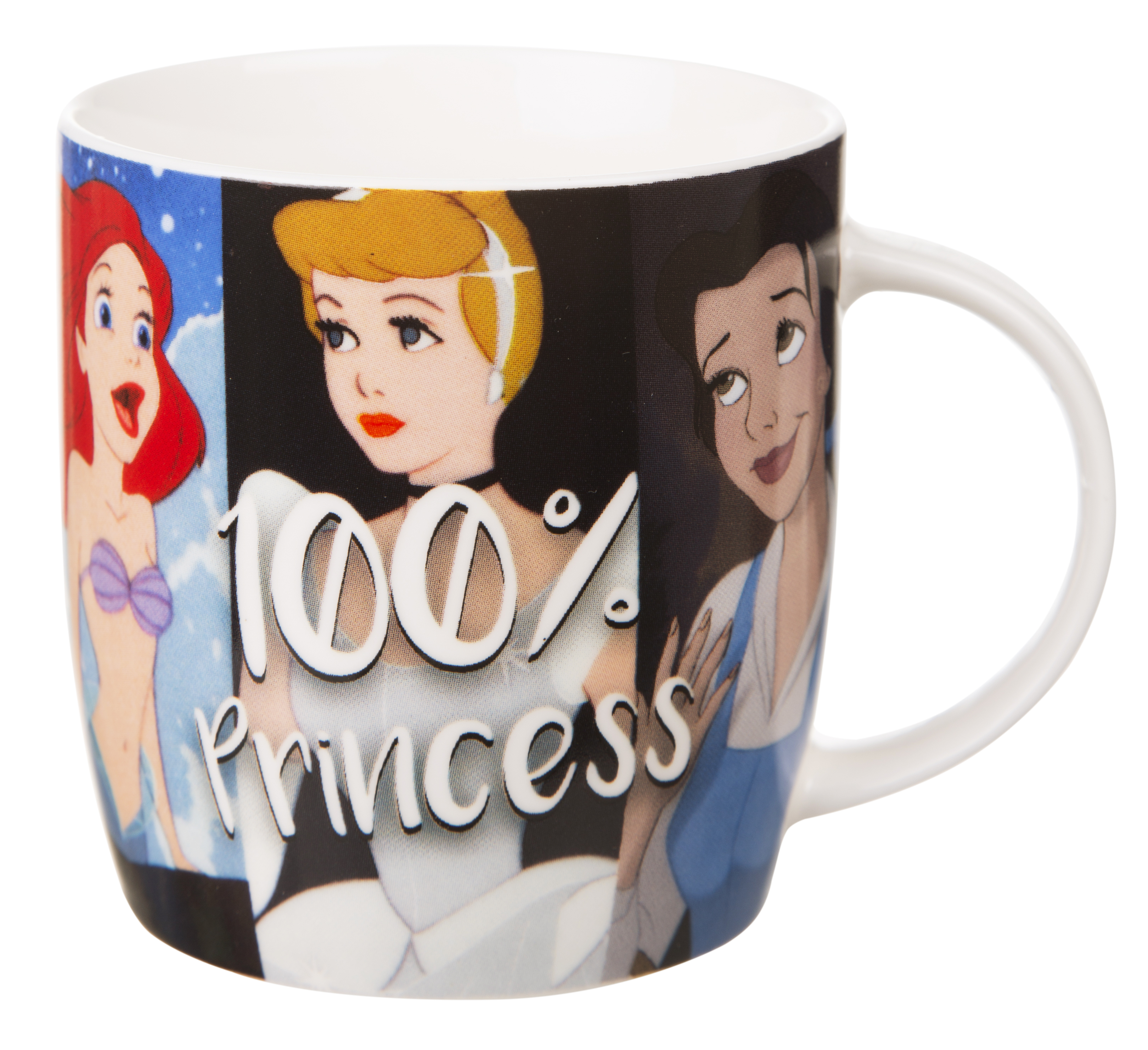 Featuring The Disney Princesses Alongside The Slogan 100% Princess, This Mug  Will Leave No One In Any Doubt To Your True Calling In Life!