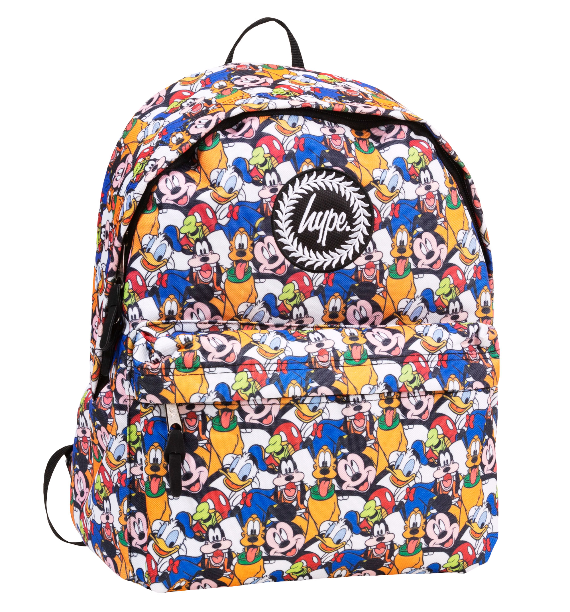 Disney Characters All Over Print Backpack from Hype - Made of polyester - All  over printed design - Measures approx 40cm x 30cm x 15cm de0cefcbee599