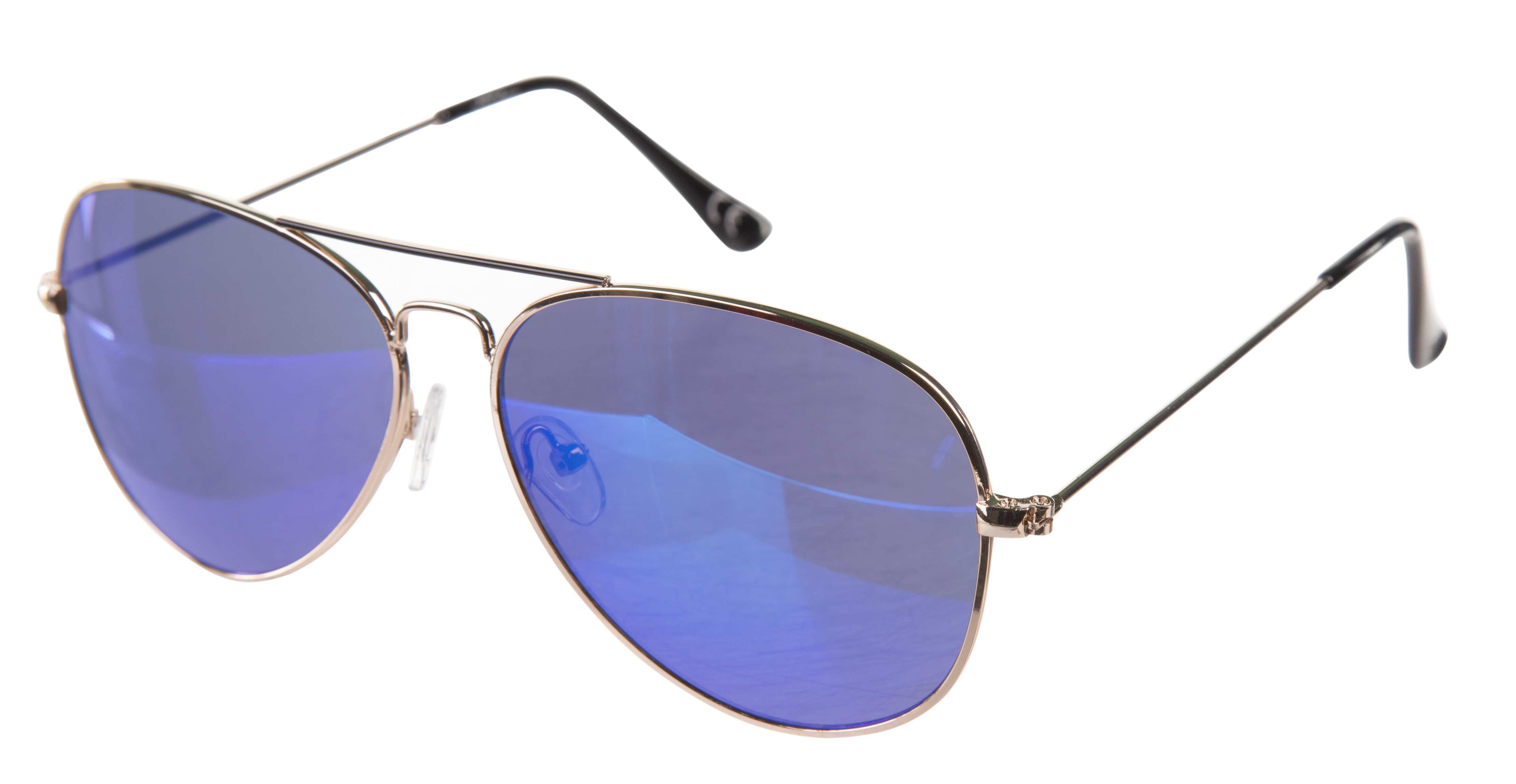 Gold Frame Mirror Lens Aviator Sunglasses from Jeepers Peepers