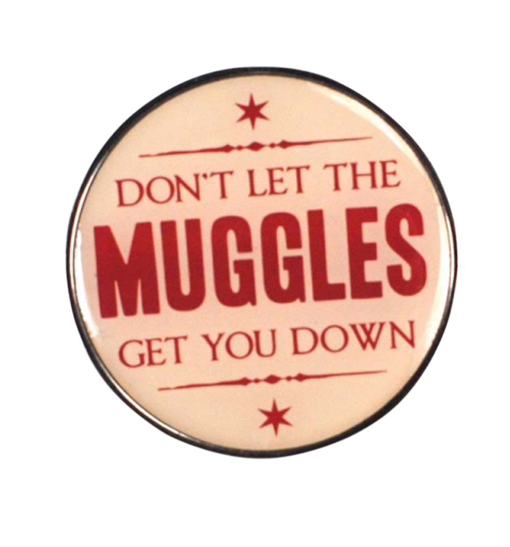 Harry Potter Muggles Enamel Pin Badge   Made From Metal And Enamel    Measures 3.2cm X 3.2cm X 0.5cm   Presented On Branded Card   100% Official  Merchandise