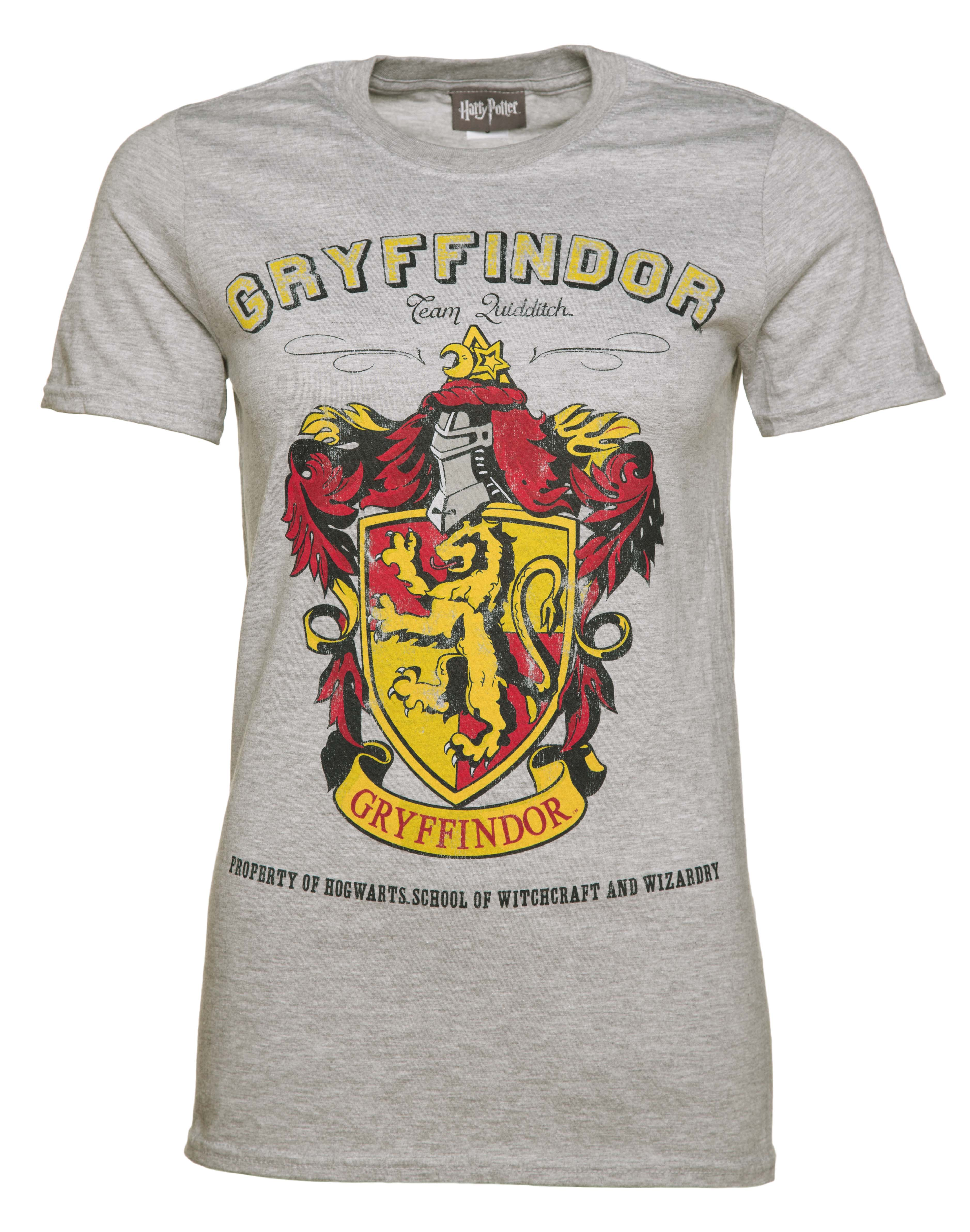 c40a052f Ladies Grey Harry Potter Gryffindor Team Quidditch T-Shirt from  TruffleShuffle - Intentionally distressed screen print for that authentic  vintage appeal