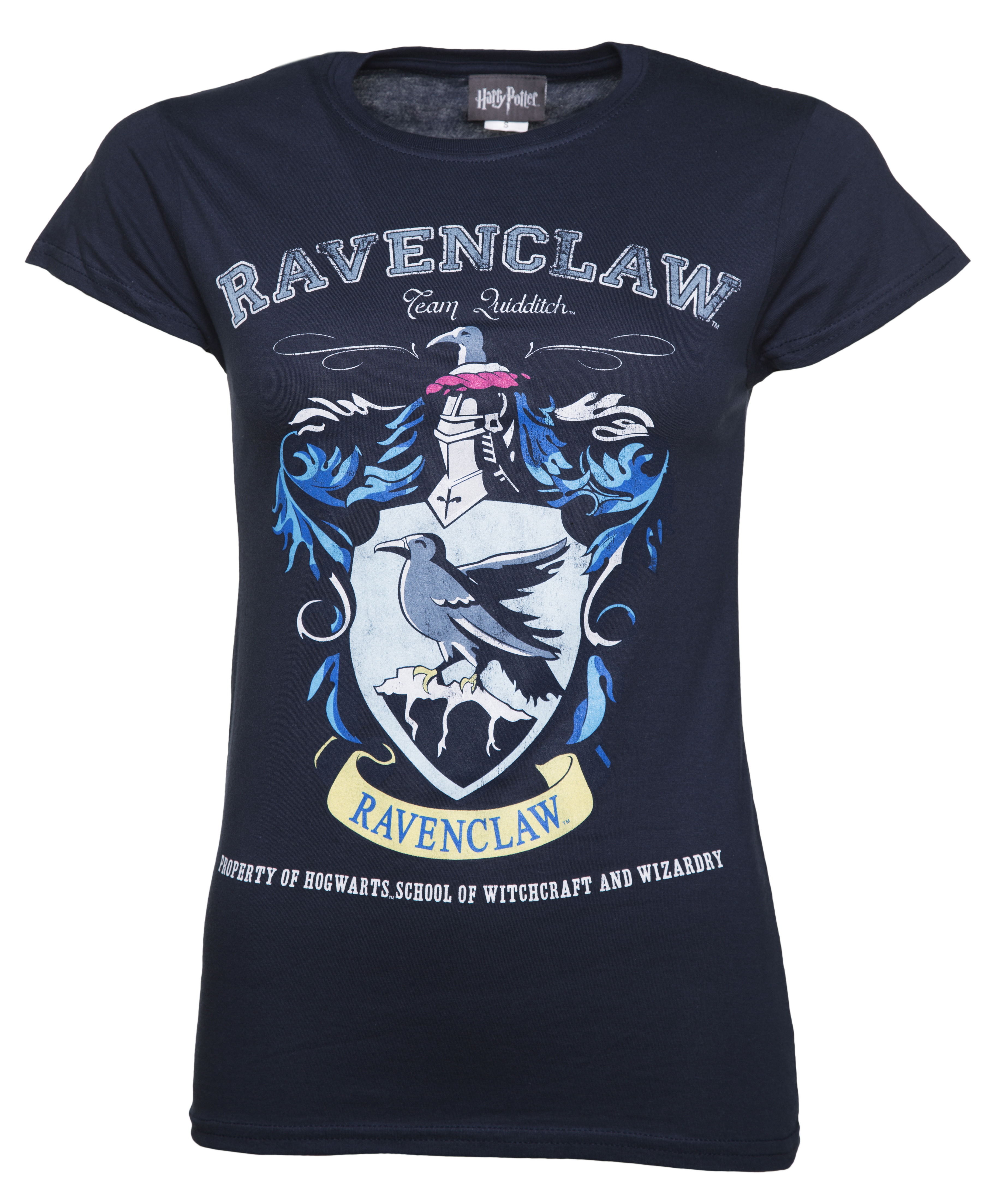 ec4d9c555a8 Ladies Navy Harry Potter Ravenclaw Team Quidditch T-Shirt from  TruffleShuffle - Intentionally distressed screen print for that authentic  vintage appeal