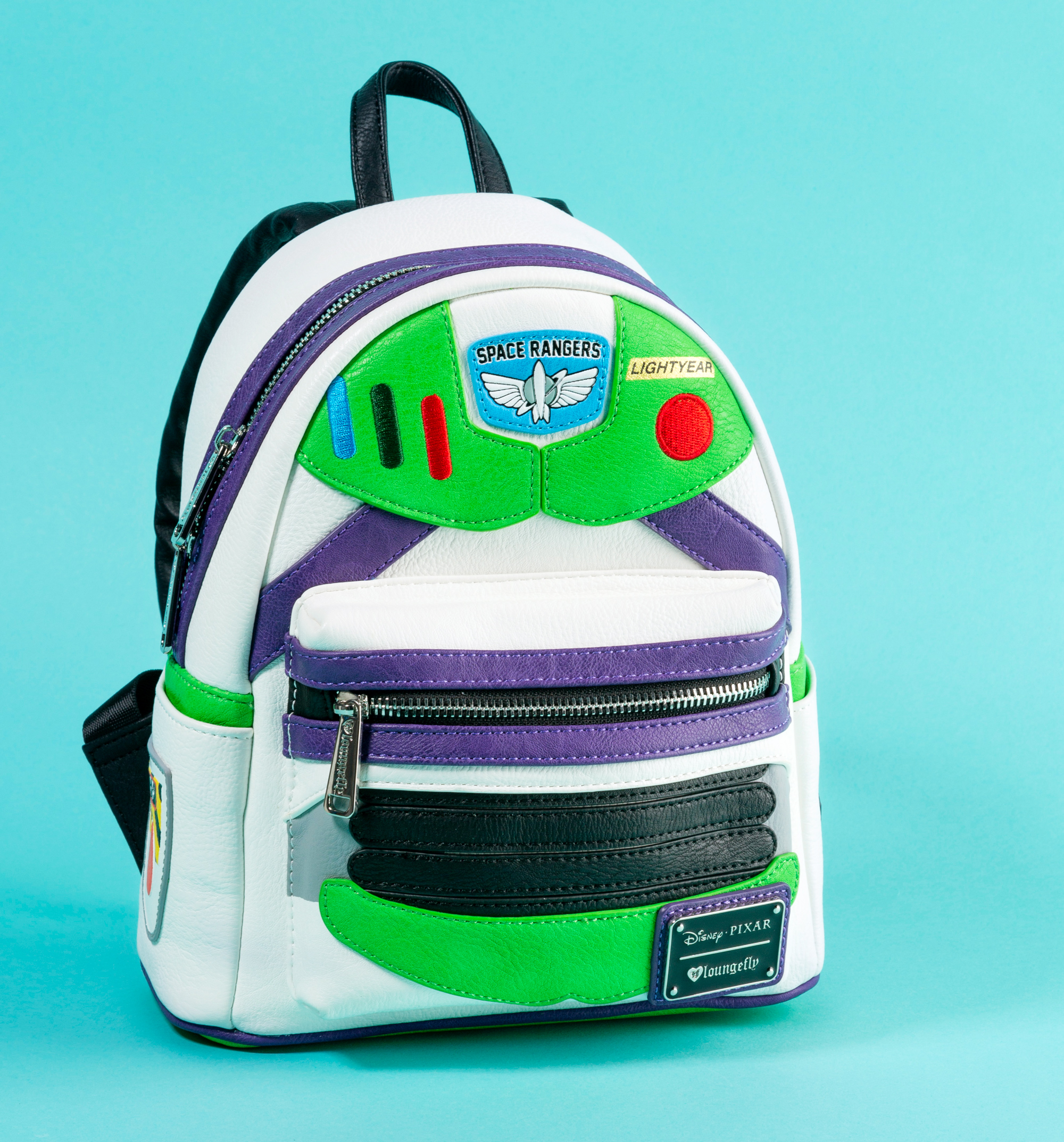 d273a0dcb88 Loungefly x Disney Buzz Lightyear Mini Backpack - Made of premium Saffiano  faux leather - Measures 27cm height