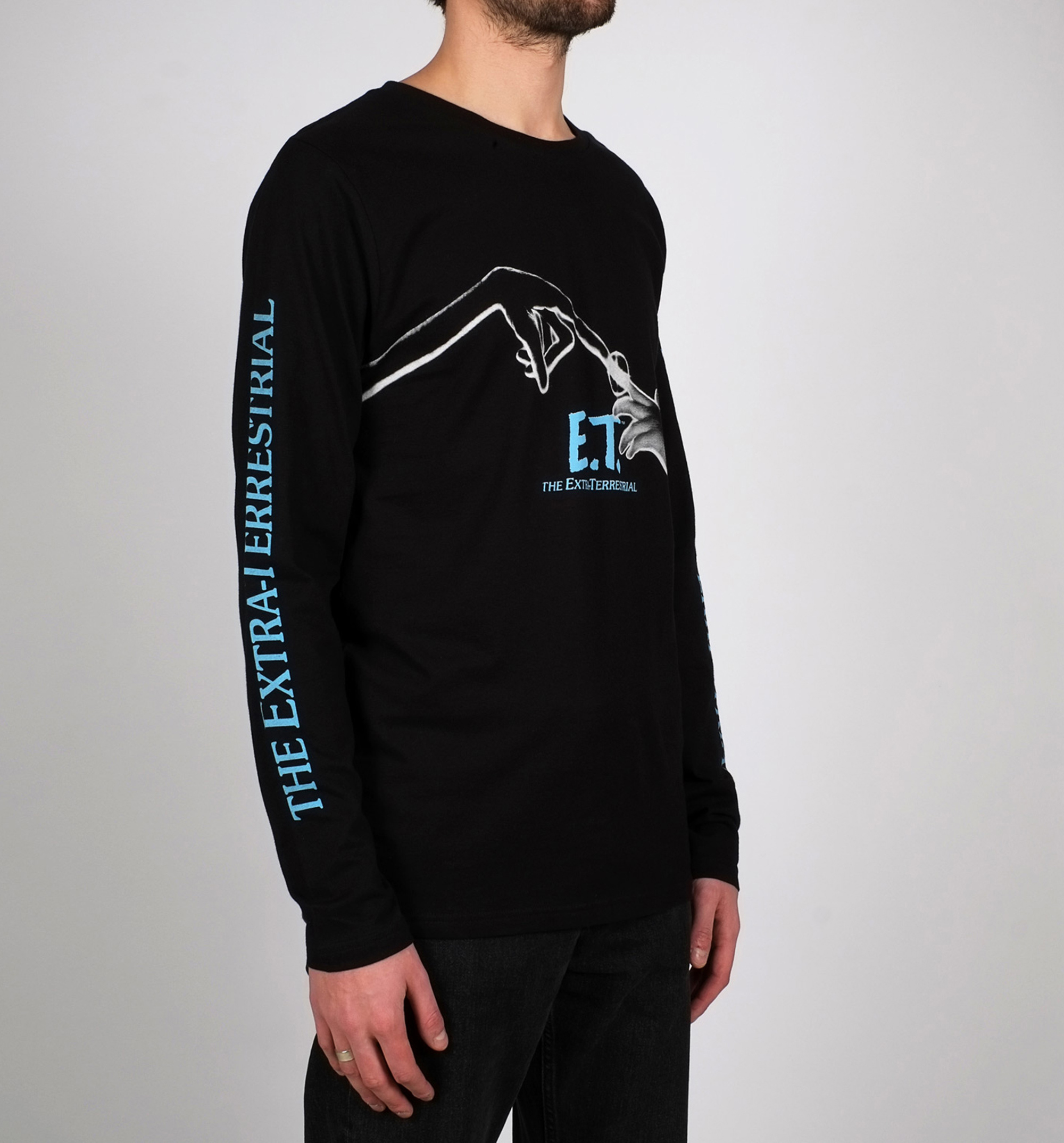 7bcb62602 Men's Black E.T. Long Sleeve T-Shirt from Dedicated - Classic fit men's tee  - Made from 100% organic, recycled Fairtrade-certified cotton