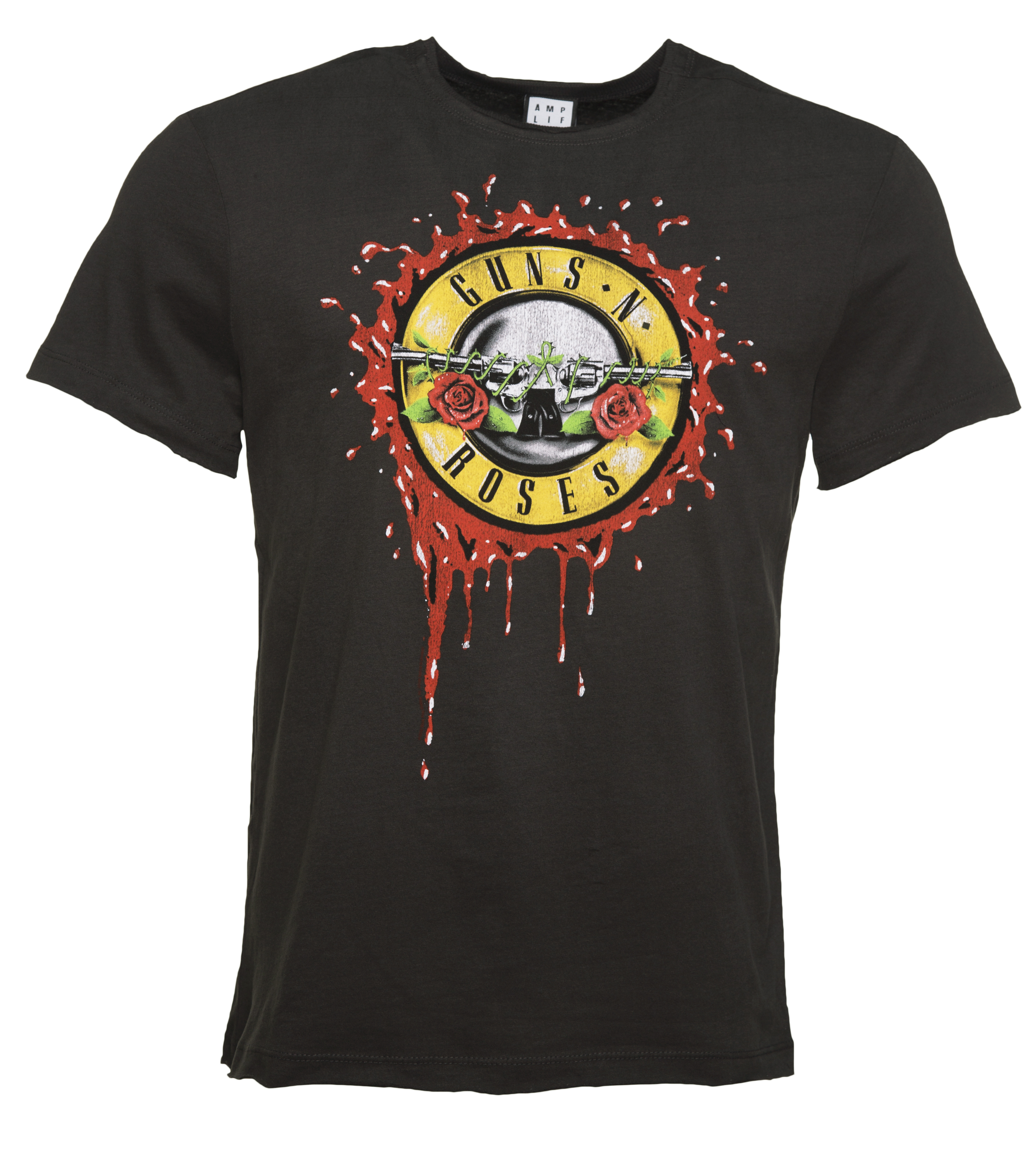 men 39 s charcoal guns n 39 roses bloody bullet t shirt from. Black Bedroom Furniture Sets. Home Design Ideas