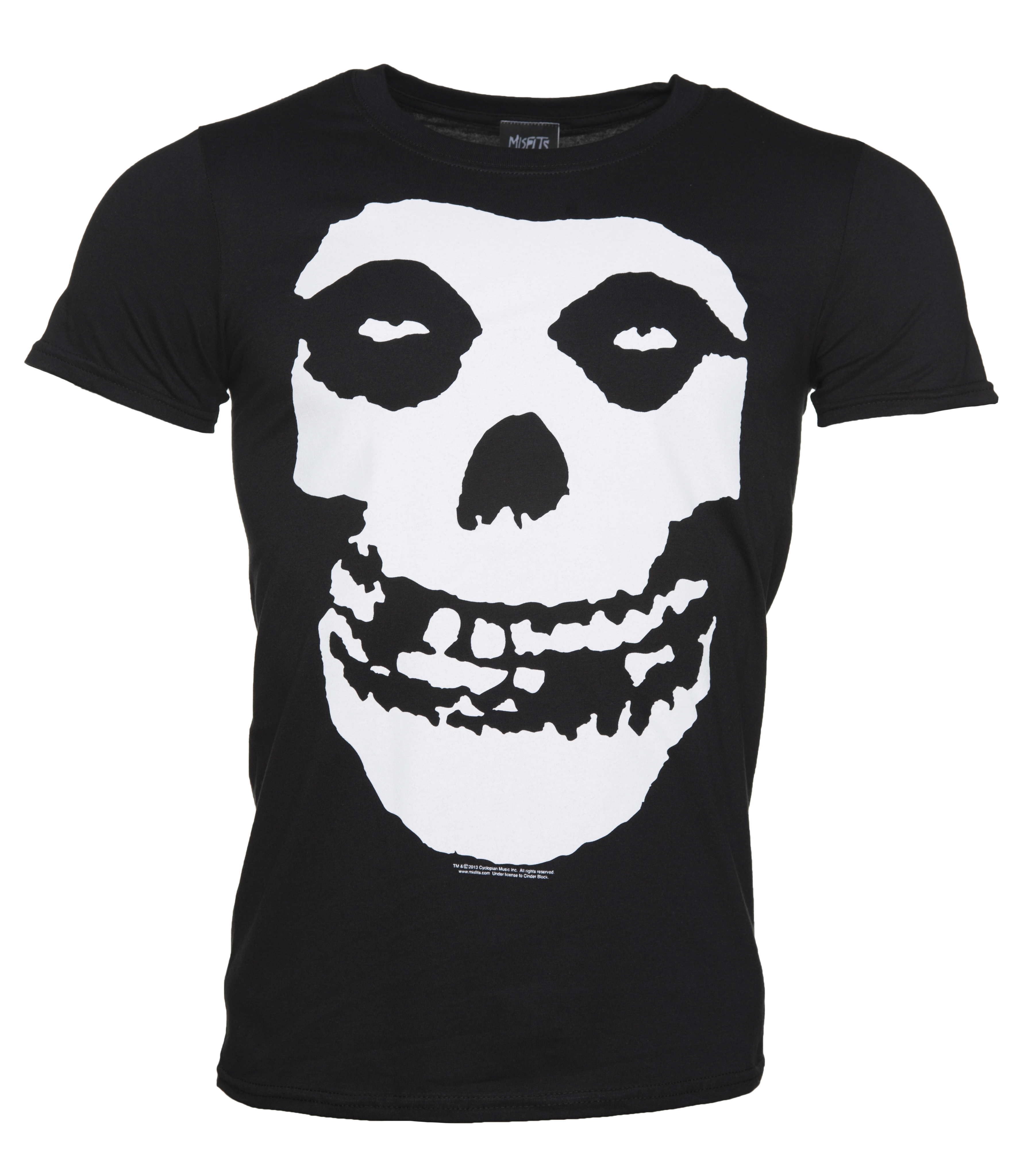 Black t shirt with print - More Info Men S Misfits Skull T Shirt With Back Print