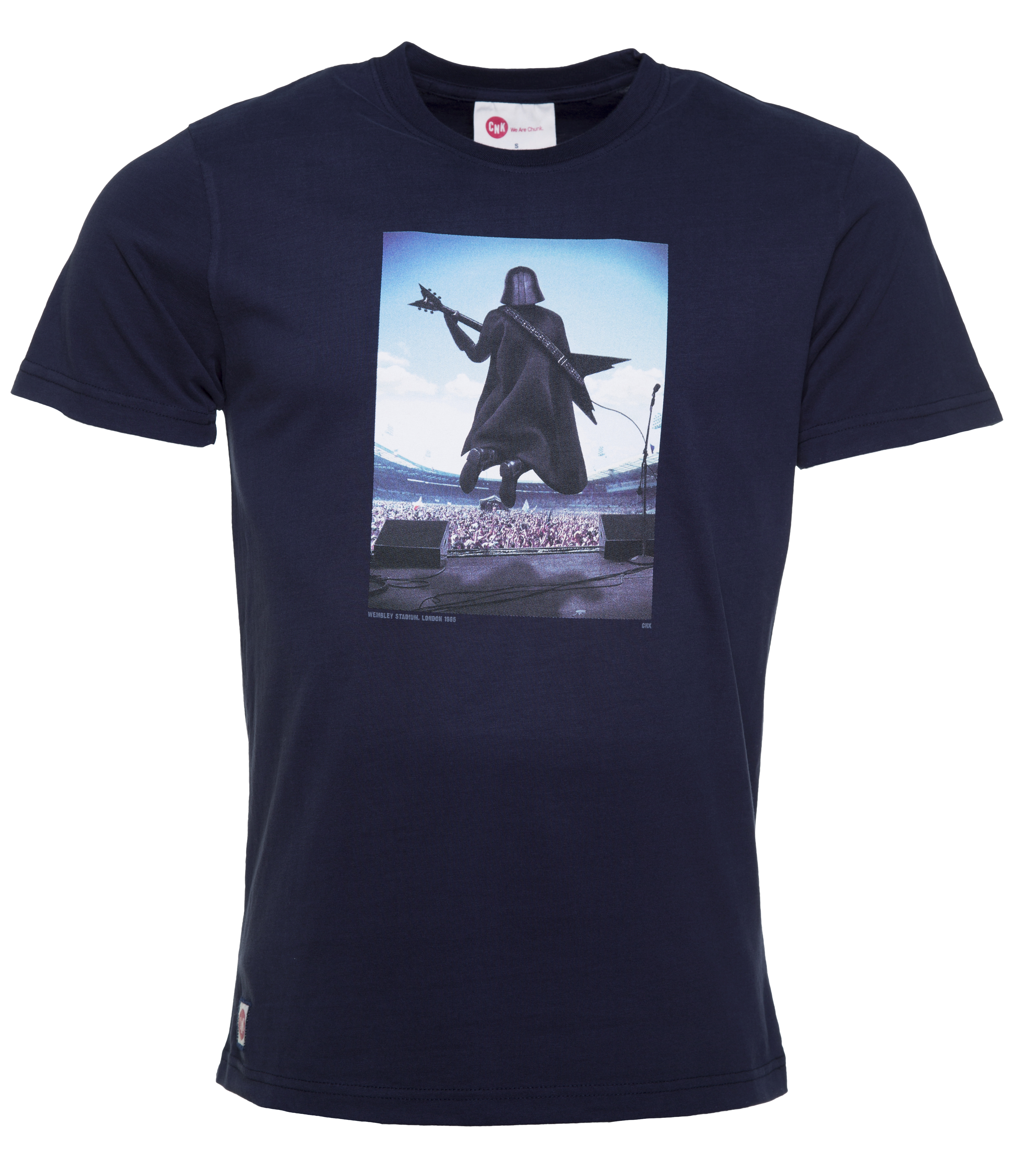 men 39 s navy darth vader guitar hero star wars t shirt from chunk. Black Bedroom Furniture Sets. Home Design Ideas