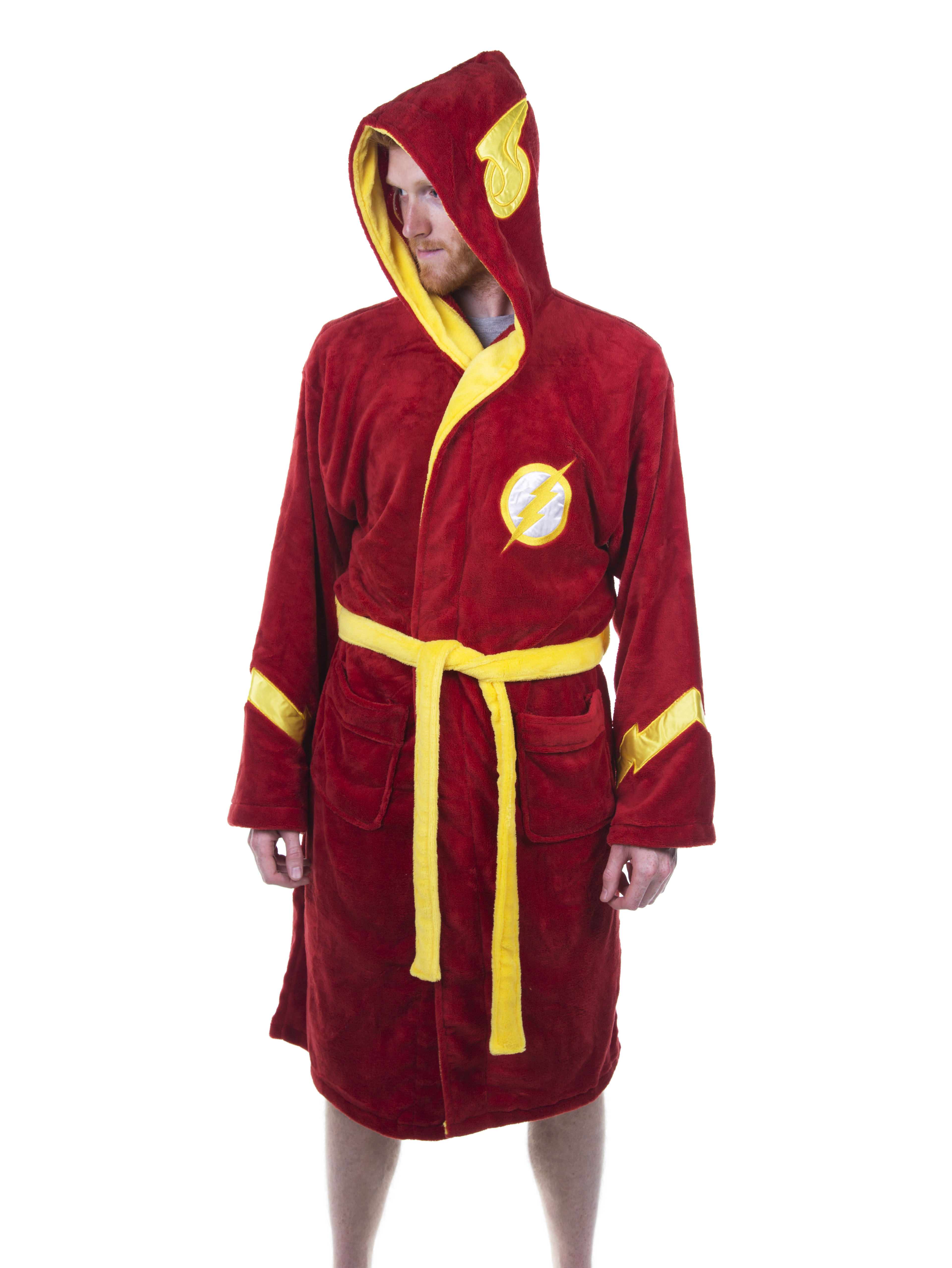 Men\'s Red DC Comics The Flash Dressing Gown