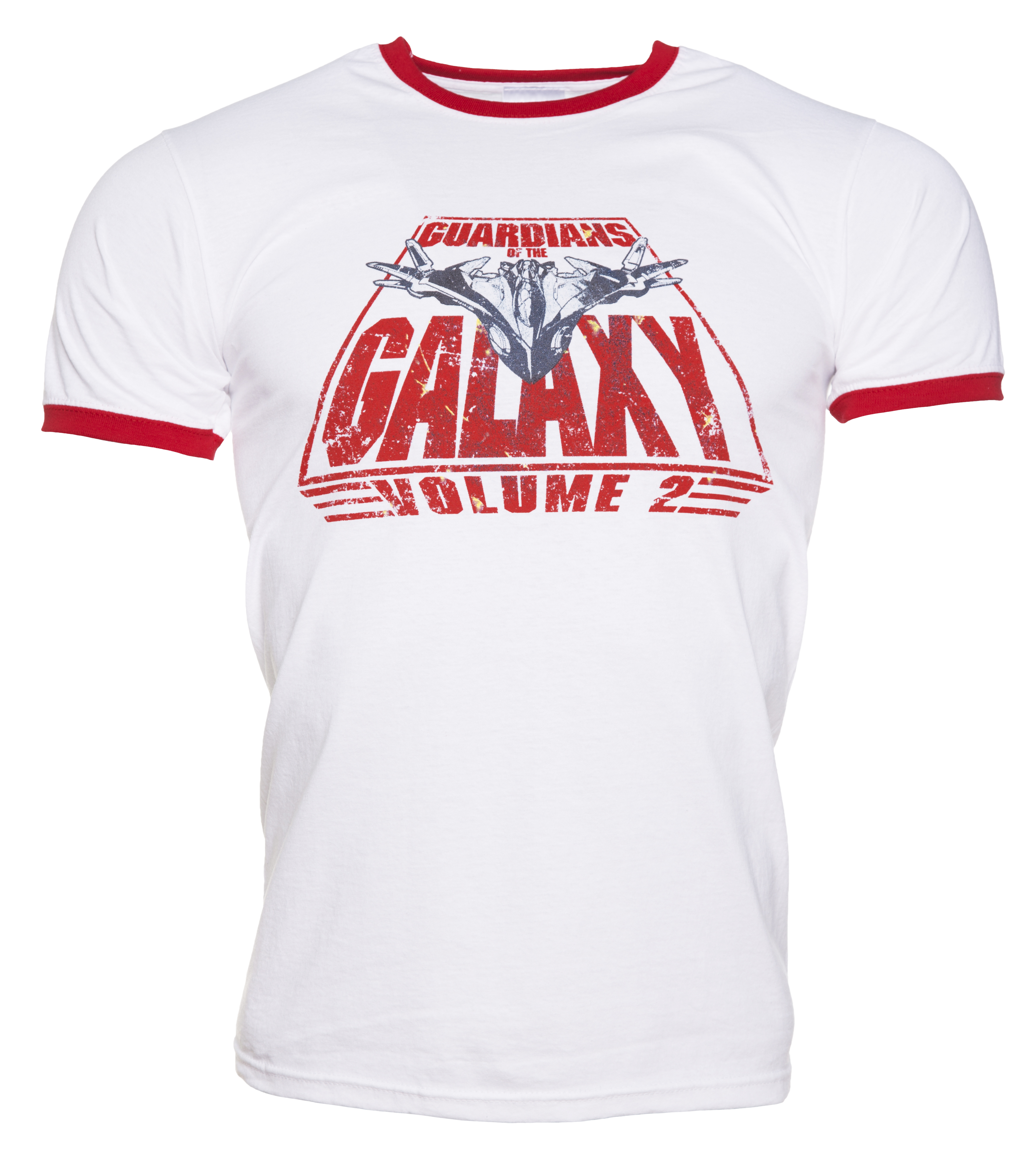 Men 39 s white retro guardians of the galaxy volume 2 logo for Vintage t shirt company