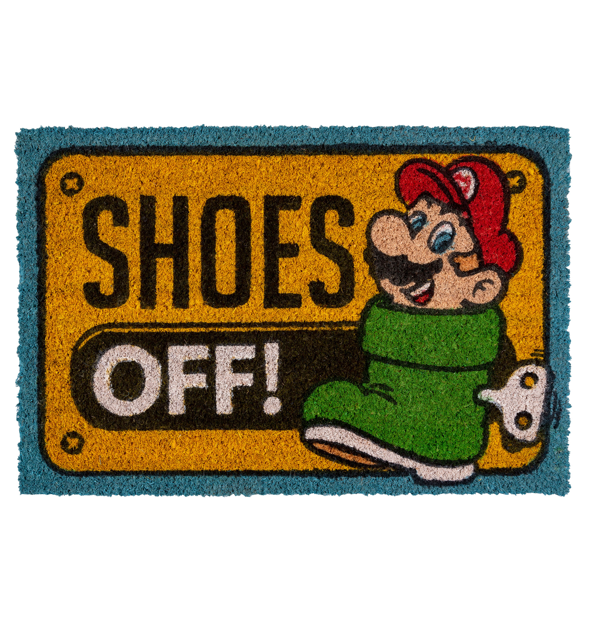 Nintendo Super Mario Shoes Off Door Mat - Measures 60 x 40 cm - Made of 58%  PVC and 42% coconut (brush material) - Great house warming gift 881838c32f46