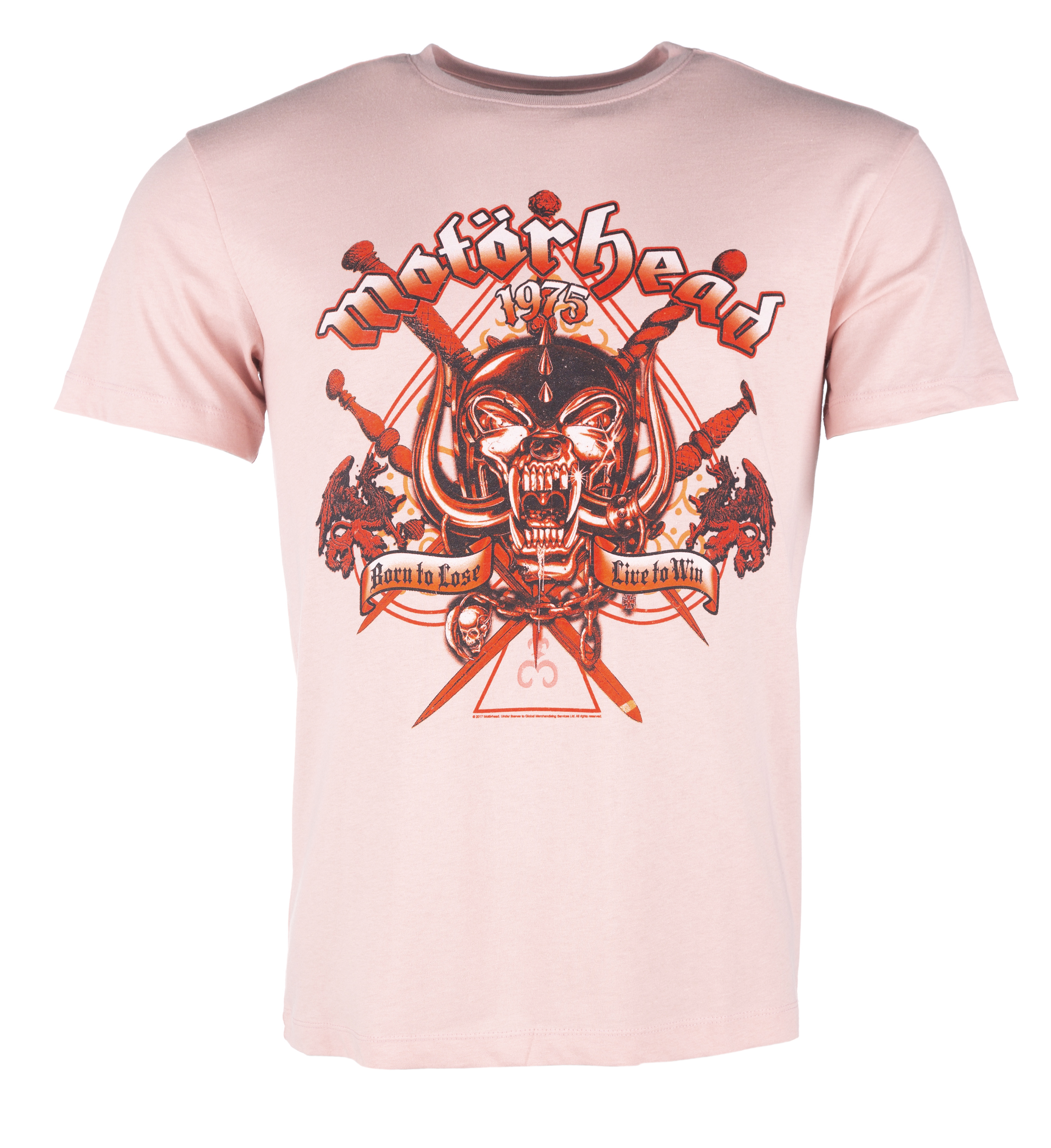 f350a00544 Pink Motorhead Live To Win T-Shirt from Amplified - Made from 100% cotton -  Unisex T-Shirt - Loose fit - Screen printed for a high quality finish