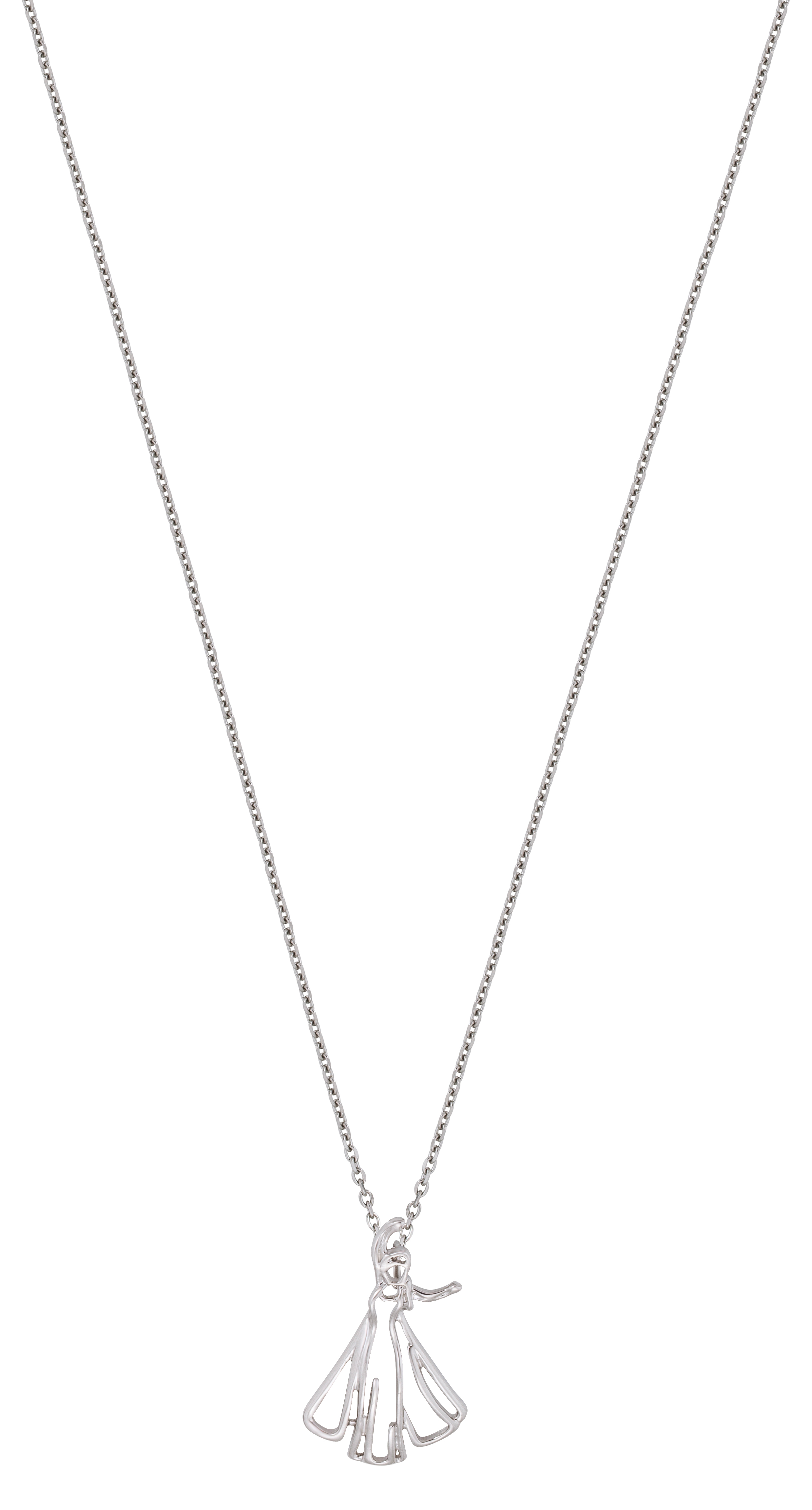 Cooling Necklaces That You Freeze : White gold plated frozen elsa outline necklace from disney