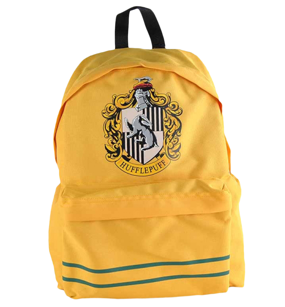 yellow harry potter hufflepuff backpack. Black Bedroom Furniture Sets. Home Design Ideas