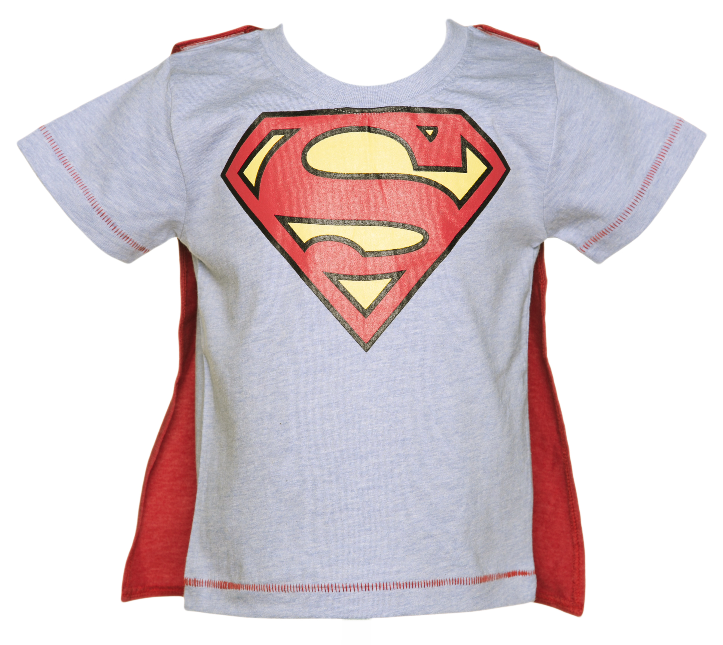 Superman Logo T-Shirt With Cape